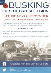 Busking for the British Legion!