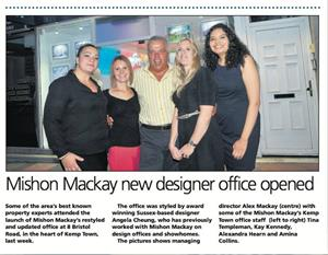Mishon Mackay new designer office opened