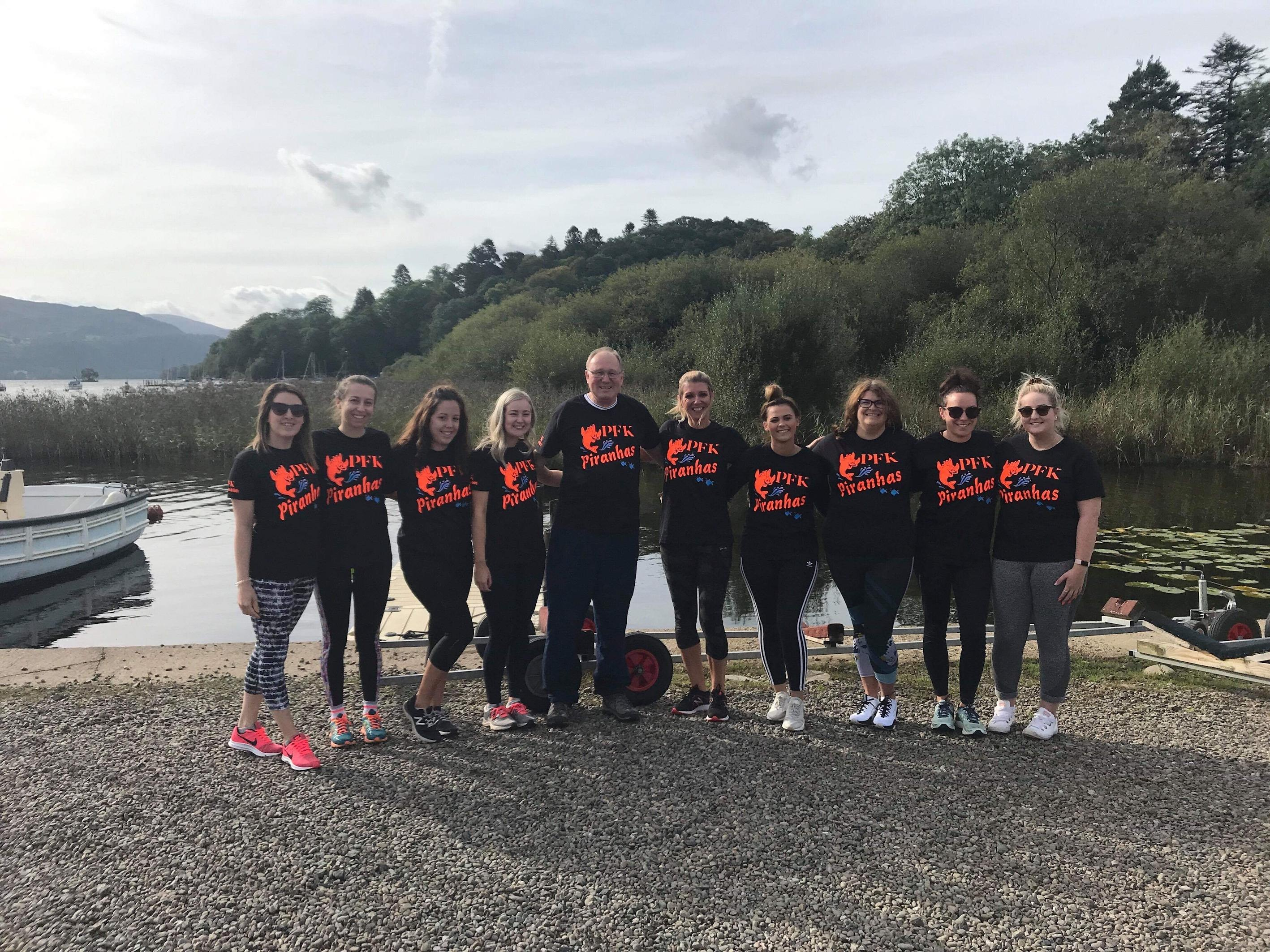 PFK Estate Agency take part in Tiger Boat Challenge on Saturday 14th September 2019  Derwent Water Marina